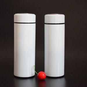 ısı basın süblimasyon içme şişe 500ml paslanmaz çelik vakum izoleli taklacılar kahve fincanı DIY için 500ml beyaz boş su şişesi