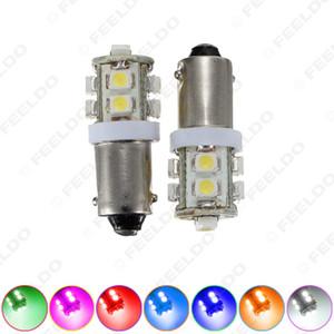 20pcs BA9S T4W W5W 1210/3528 10SMD Interior del coche Luz de matrícula LED Lámpara de LED 7 colores # 1507