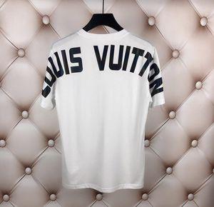 Moda Erkek Tasarımcı T Shirt Pamuk Rahat T Gömlek Erkekler Giyim Yanıp Sönen Mektup Baskılı T Gömlek Erkek Kadın Hip Hop Tişörtlerin M-3XL