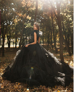 Black Tulle Prom Gown with Detachable Overskirt Evening Dresse Prom Dress Formal Evening Gowns Vestidos De Festa