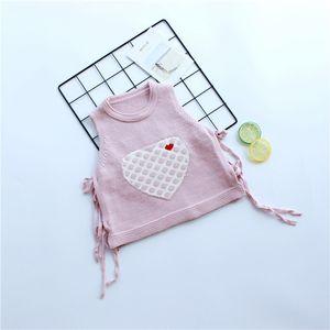 New Cotton Crianças roupas de inverno Camisolas Bibicola Roupas de Maternidade Maternidade Suprimentos da menina Primavera Vest mangas camisola de malha Hea