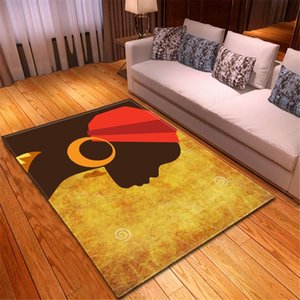 Fashion African Girl Portrait Sofas Area Rug Decor Bedroom Bedside Rug Corridor Mat Children Play Home Living Room Carpets