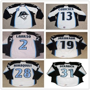 Özel AHL Milwaukee Amiralleri 13 Conacher 19 Calle Jarnkro 2 Laakso 28 Hornqvist 31 Mark Dekanich Premier Hokey Formaları Dikişli Logolar