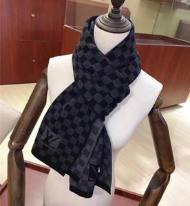 패션 남성의 캐시미어 스카프 고전 자카드 격자 무늬 스카프 부드러운 니트 캐시미어 스카프 고급 남성 스카프