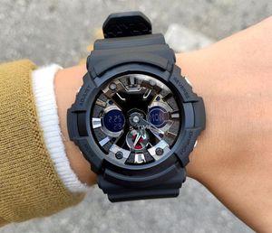 2020 Letzte Top Original-Sport-Mann-Uhren Military Multifunktions-LED Digital Analog Dual-Display-Uhr-Groß Relogio Masculino