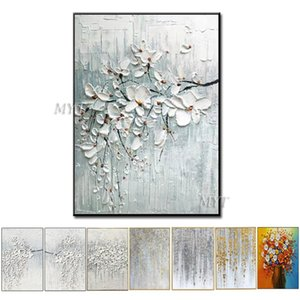 Painted Unframe Wall Art 100% a mano dipinto ad olio su tela o dipinte a mano personalizzate Dipinti progettati non stampato Oil Paintings T200118