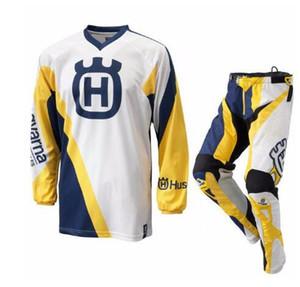 2020 pour le style Husky Husqvarna Motocross Suit Motobiker Racing Riding Jersey + Pantelons MX combinaison d'équitation