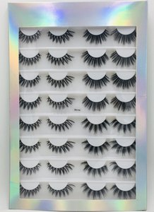 Handmade 16 Pairs Mink false eyelashes set thick natural fake lashes eyes makeup accessory soft & vivid eyelash extensions 6 models DHL