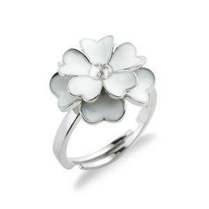 Белые соцветия Кольцо Настройки Pearl 925 Silver Пробелы цоколь Sterling для DIY Making 5 штук
