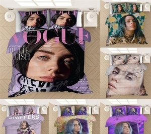 Billie Eilish Duvet Cover Bedding Set 3D in microfibra twin set completi Regina King Size Consolatore copripiumino Cover Set 1 2 federe