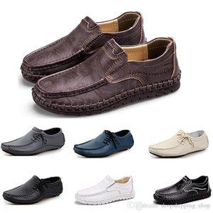 Mens Running shoes fashion sports men sneaker black white brown dark blue gray creamy white comfortable athletic dress trainer sneaker 71
