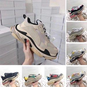 2019 Fashion Luxury Designer Triple S Paris 17FW Sneakers Men Women Trainers Sports Casual Dad Shoes Triple-S Beige Black Chaussures c22