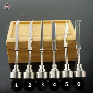 Carb Cap Titanium Ferramenta Domeless titânio prego 14 milímetros 18 milímetros Titanium espada reta Ferramenta Dab com Carb Cap Dabber