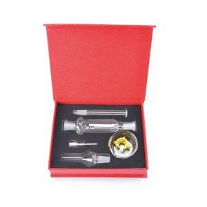Mini Micro NC Kit 10 milímetros palha NC Kits palha mel dab com inoxidável prato gorjeta de copo plataformas de petróleo Caixa vermelha / preta DAB