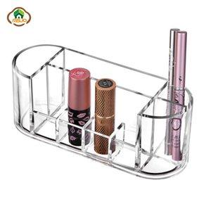 MSJO organizador cosmético del maquillaje de la caja de almacenaje transparentes Acryl Cosméticos caja de plástico para el almacenamiento de baño Organización de Mujeres