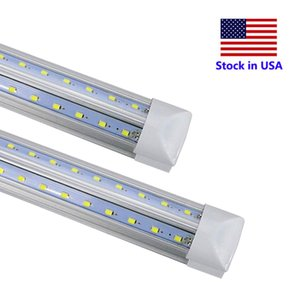 240CM T8 LED 전구 V는 LED 튜브 2피트 4피트 5피트 6피트 8피트 8피트 통합 LED 튜브 조명 교체 형광 램프 AC85-265V 모양의