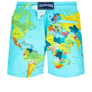 Vilebre MEN BAGNO herringbones TARTARUGHE nuovi casuale estate Shorts stile di modo Mens Shorts Bermuda Beach 50209