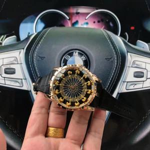 Luxus Begrenzte 12 Ritter der Tafelrunde Ritter Luxus Designer-Männer Uhr-Art und hochwertiges Quarz schwarzes Leder Militärsport