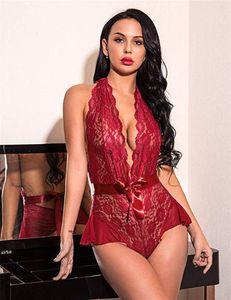 Heiße reizvolle Wäsche tiefe V sexy Spitze fest Body Club Mädchen lingeries YZ20.3-1061
