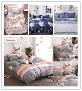 New nordic soft modern printing sanding aloe cotton 4PCS Sheets quilt pillowcases environmentally friendly comfortable bedding sets