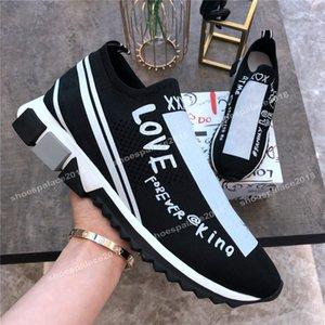 Luxe Designer Chaussures D Sorrento Sneaker Hommes Femmes Chaussures Casual Race Runner Hommes Mesh respirant Chaussures de sport Roi d'amour Sock Vitesse