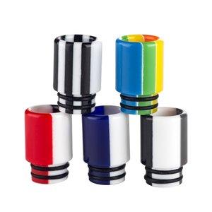 I più nuovi 510 Discussione in resina Drip Tip Colorful Rainbow pettine Consigli Drip per TFV8 TFV12 TFV8 vaporizzatore SMOD-014