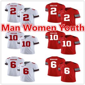 por encargo de fútbol de la NCAA Ohio State Buckeyes jerseys Ryan Shazier 2 Ryan Shazier 10 Sam Hubbard 6 jersey de cualquier nombre de número de tamaño S-5XL