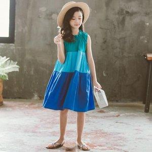 YourSeason Свободные Летние Детские Девушки Одеваются Мода К 2020 Году Новых Детей Хлопок Лоскутное Ребенок Принцесса Платье Синий Зеленый