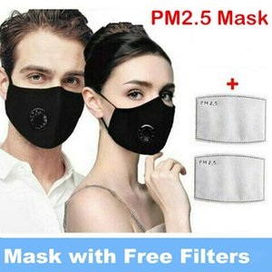 DHL Free Ship Anti Dust Face Mouth Mask With Breathing valve Individual Package PM2.5 Respirator Dustproof Pollution Washable Cotton Masks