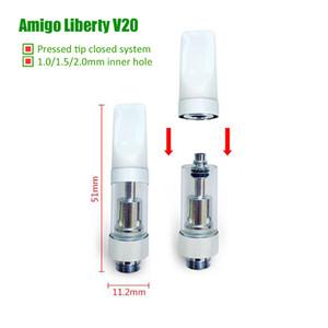 Originale Itsuwa Amigo Liberty V20 Vape cartucce Pressed Drip sistema chiuso Carrelli Serbatoio 510 Thick olio O Penna BUD 1,5 2,0 millimetri dimensioni foro interno