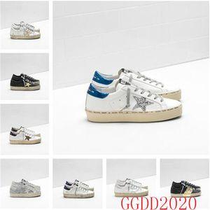 İtalya Marka Çok renkli Topuk Altın Superstar Gooses Tasarımcı Sneakers Erkek / Bayan Klasik Beyaz Do-eski Kirli Ayakkabı Hi Yıldız Ayakkabı Boyut US5-11