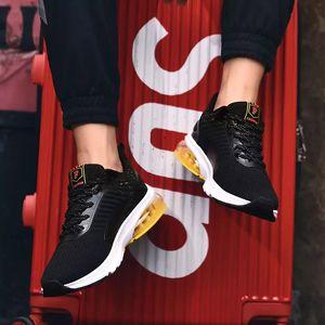 con los calcetines libres del diseñador del amortiguador de aire caliente blanco y negro los hombres azules deportes especiales sección zapatilla aumentaron transpirable jogging zapatos para correr