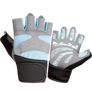 De usos múltiples de fitness medio dedo guantes de alta calidad de malla transpirable guantes de tela de gimnasia Práctica antideslizante deportes de ciclo