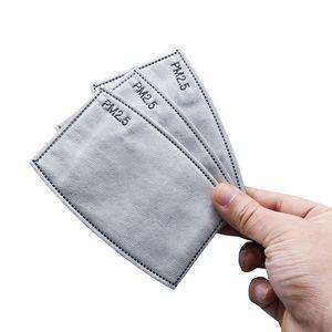 5layers PM2.5 monouso Maschera filtro Paper del rilievo antipolvere Haze bocca Sport riutilizzabile per adulti respiratore Breath Filtro