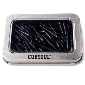 CUESOUL 100шт / набор 2BA Groove 33mm Black Nylon Soft Tip Dart Очки для электронных Дартс, Бесплатная доставка
