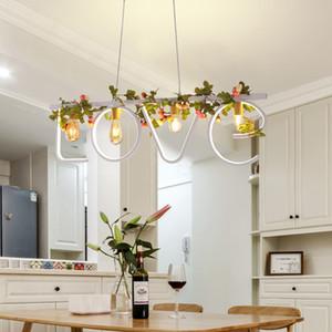 Modern LOVE Letter Chandelier White Black Plantas de hierro Lámpara colgante de estilo rural para sala de estar Alojamiento