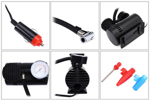 2016 12V 300PSI Electric Motorcycle Inflatable Pump Portable Mini Air Compressor Tire Inflator for Bicycle Tire Balls Airbeds