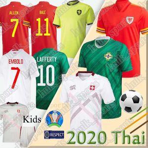 2020 2021 Irlanda del Norte Fútbol EVANS LEWIS Saville DAVIS WHYTE Lafferty hombre + niños BALA Gales Switzerl las camisas del fútbol uniformes