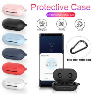 Nouvelle Housse de protection pour Samsung Galaxy Mini 2020 écouteurs Flip-open Housse en silicone cas antichocs étanche avec mousqueton