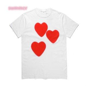 Womens Designer T Shirts 2020 Summer Casual Couple Shirts Short Sleeve Tees Fashion C0py Heart Print Funny Top Tee WDY2004154