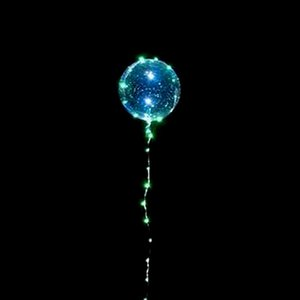 Luminous LED Balloon With Stick Transparent Valentine Day Wedding Party Decoration Balloons