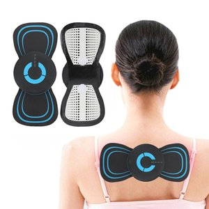 Portable Butterfly Design Mini Electric Neck Massager Cervical Massage Stimulator Pain Relief ABS Back Massage Patch Relaxing