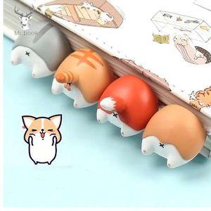 Прекрасный мультфильм собака кошка хомяк лиса задница закладки новинка чтение книг творческий подарок для детей дети канцелярские товары