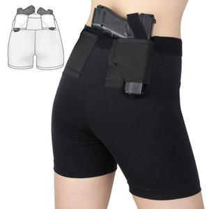 Kadın vücudu şekillendirme iç çamaşırı Taktik tabanca kılıfı Etkileşimli Tahta yüksek elastik vücut şekillendirme dikişsiz kadın iç çamaşırı kılıfına gizlenmiş.