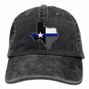 Drapeau de l'État du Texas Denim Baseball Caps Loisirs de plein air Bill Caps adultes unisexe Mode Lavé Twill Chapeaux Non Construits