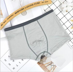 Mens Boxers Slim Breathable Soft Casual Brief Mens Designer Underpants Middle Waist Oversize Piping Pure Color