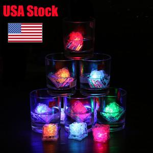 USA Stock 120 Pack Multi Color Aufleuchten-LED Eiswürfel mit ändernde Lichter und Ein / Aus-Schalter LED Nights Party-Lichterketten