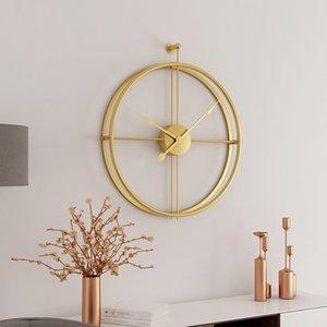 Büyük Kısa Avrupa Tarzı Sessiz Duvar Saati Ev Ofis Için Modern Tasarım Dekoratif Asılı Duvar İzle Saatler Sıcak Hediye D19011702