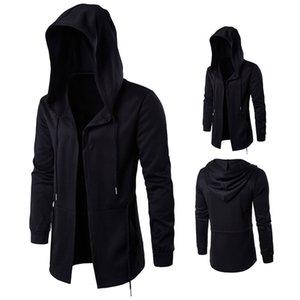 2017 herbst frühlingsmode graben männer windjacke langen mantel mantel hexe mantel kapuzenjacke schwarz plus größe m-5xl