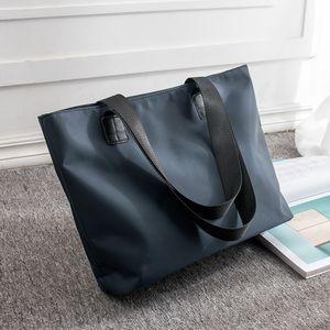 Edebi Oxford bez kadın omuz çantası büyük kapasiteli çanta naylon basit çantası